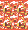 industrial seamless red pattern vector image