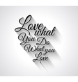 Insipational Love Typo Text with Retro Style vector image vector image