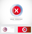 Letter X red logo vector image