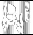 line drawing men smoking vector image