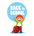 little student boy with school bag vector image