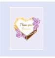 love invitation card valentines day vector image vector image