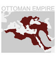 map of the ottoman empire vector image