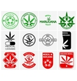 Medical marijuana or cannabis logos labels vector image vector image