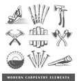 modern carpentry tools vector image vector image