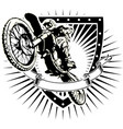 motorcross shield vector image vector image