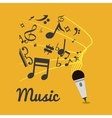 music note microphone sound vector image vector image