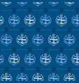 nautical background anchor vector image vector image