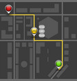order taxi using service dark map mockup route vector image