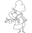 outlined friendly chef vector image