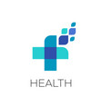 pharmaceutical healthcare and medical logo vector image vector image