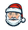 portrait of happy santa claus christmas or new vector image vector image