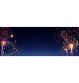 pyrotechnics and fireworks realistic banner vector image
