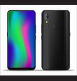 realistic smartphone mockups vector image vector image