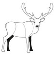 reindeer cartoon style with big antlers isolated vector image vector image