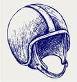 Retro helmet vector image vector image