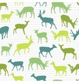 Retro pattern with deers vector image vector image