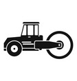 safety road roller icon simple style vector image vector image