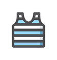 sailor vest tshirt icon cartoon vector image