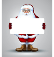 Santa holding sign design vector image