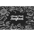 seafood template design menu restaurant or cafe vector image vector image