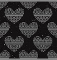 seamless pattern with ethnic hearts can be used vector image