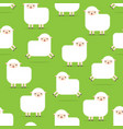 seamless pattern with lambs white fluffy sheep vector image vector image