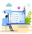 search social personal profile vector image vector image