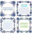 Set of ornate frames with floral elements vector image vector image