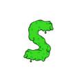 slime logo letter s vector image
