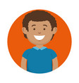 smiling man icon vector image vector image
