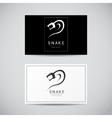 snake simple black logo design element vector image vector image