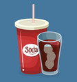 soda cups drink icons vector image