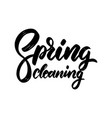 spring cleaning lettering phrase for invitation vector image vector image