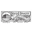 state banner south dakota coyote state vector image vector image