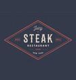 steak logo meat label logo with text steak vector image vector image