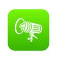 studio lighting equipment icon green vector image vector image