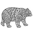Stylized bear zantangl vector image vector image