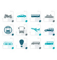 stylized travel and transportation of people icons vector image