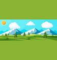 summer nature landscape with rocks vector image