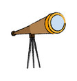 telescope icon observe instrument find business vector image