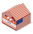 tent for a vote United States presidential vector image vector image