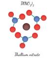 Thallium nitrate TlN3O9 molecule vector image vector image