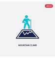 two color mountain climb icon from humans concept vector image vector image