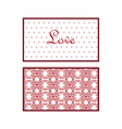 Valentines day Lace invitation card vector image vector image