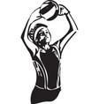 volleyball player playing vector image vector image