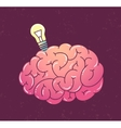 Brain with lamp vector image