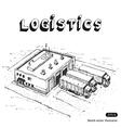 Warehouse and trucks vector image