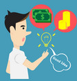concept idea creativity for money and success vector image