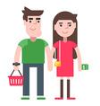 A couple shopping vector image